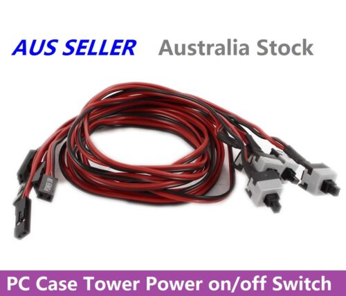 PC Case Motherboard Power on/off or Reset Replacement Switch Button Cable 50cm