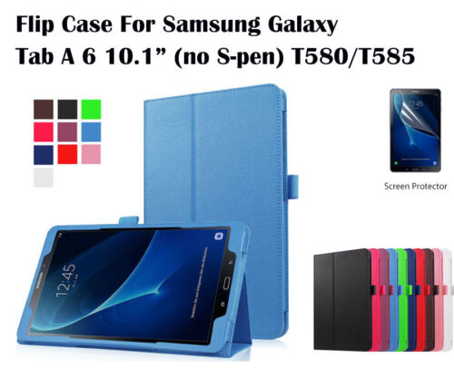 Screen Protector/Flip Leather cover case for Samsung Galaxy Tab A 6 10.1""