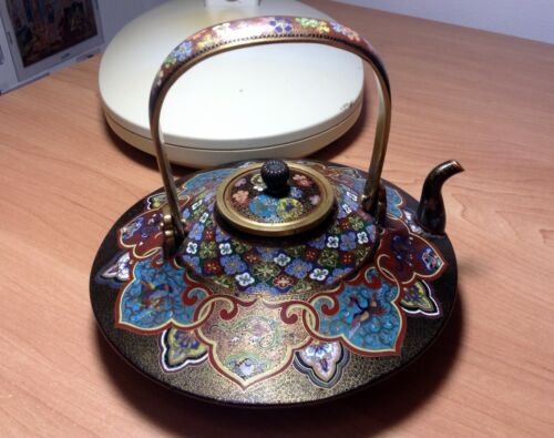 Extremely Fine and Exquisite Japanese Cloisonne Enamel Tea Pot Circa 1890's