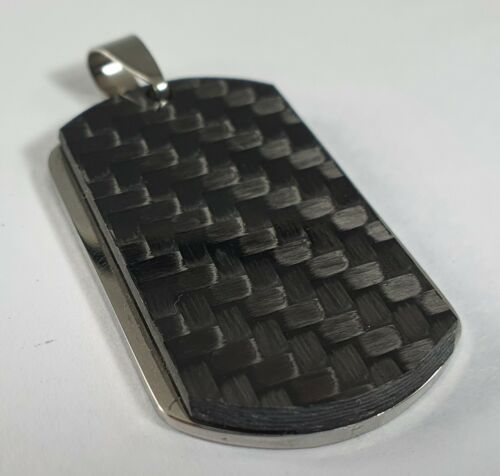 Carbon Fiber and Stainless Steel Dog Tag