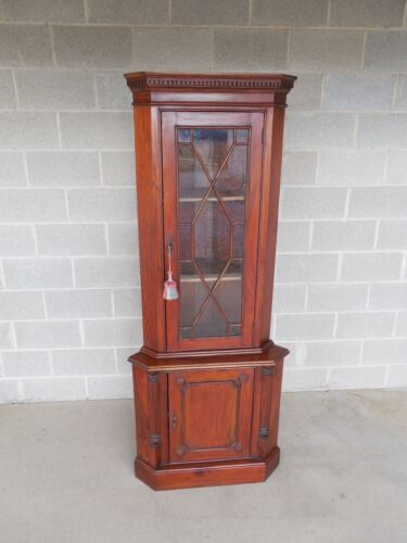 """Mahogany Chippendale Style Corner Cabinet 75.5""""H x 31""""W"""