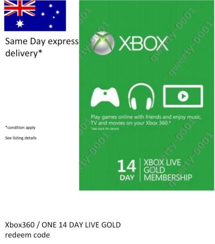Xbox 360 / ONE LIVE Gold 14 Days Membership Card