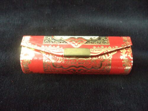 VINTAGE - ITALY OLD LIPSTICK BOX w/ MIRROR INSIDE - COLLECTIBLE SIGNED
