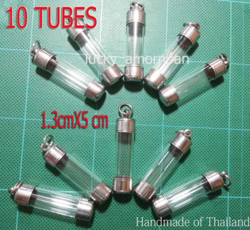 Lot of 10 Pcs Thai Amulet Takrud / Takrut Tube Casing, Case, Frame Wholesale C01