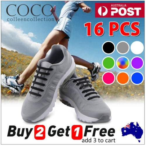 No Tie Elastic Silicone Shoe Laces Shoelaces Sneakers Sports Child/Adult/Unisex <br/> 12000+ SOLD🔥 SYD FAST DELIVERY🔥IDEAL FOR SNEAKER🔥