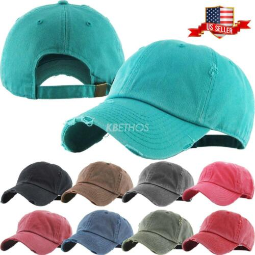 Dad Hat Pigment Dyed Distressed Vintage Cotton Polo Style Baseball Cap <br/> KBETHOS Hats Since 2001 / New York, NY