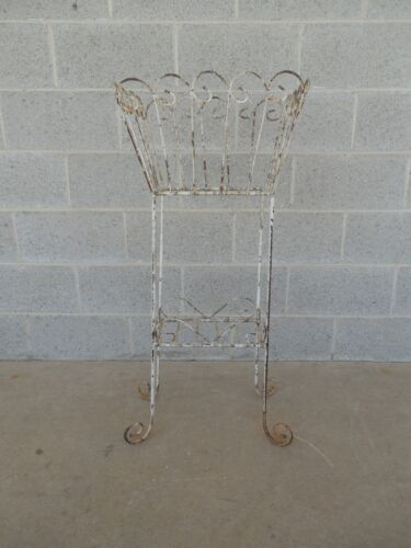 Vintage Wrought Iron Woodard Style Plant Stand
