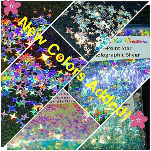 Solvent Resistant 4-Point STAR Shape~You Choose ~ Nail Art/Acrylic/Gel/~ USA