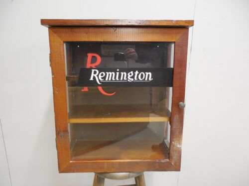 "Vintage Hanging Remington Custom Made Storage Cabinet 25""H x 22""W"