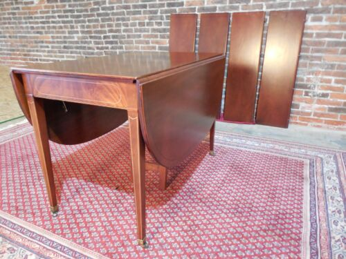 Extensole Mahogany Hepplewhite Style Extension Table
