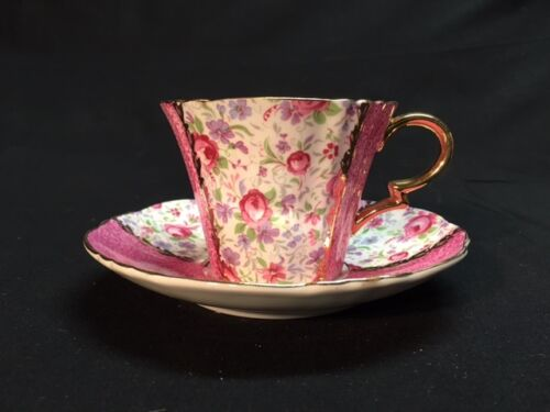Royal Standard Fine Bone China - Antique Pink Floral Tea Cup