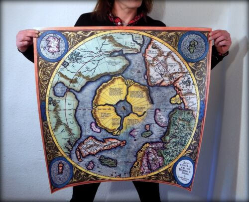 Flat Earth Mud Flood Mercator North Pole - Septentrionalium Terrarum Descriptio.