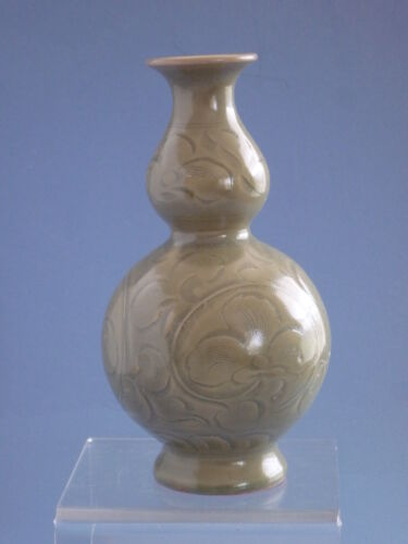 Song Dynasty Yao Zhou Yao Carved  Vase 宋代耀州窯刻花葫蘆瓶