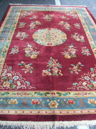 Beautiful hand-woven Chinese rug Antiques Carpet 300x200-cm / 118.1x78.7-inches