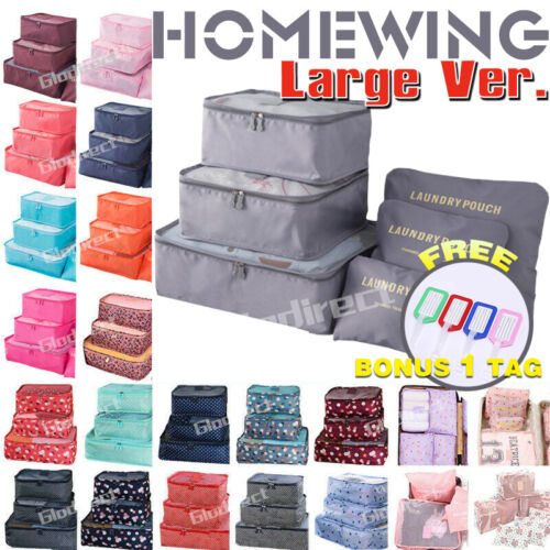 6Pcs Packing Cubes Travel Pouch Luggage Organiser Clothes Suitcase Storage Bags <br/> ⚠️BUY 1, GET 1 AT 10% OFF⚠️ SYD STOCK⚠️FAST SHIPPING
