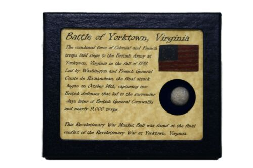 Authentic Revolutionary War Bullet from Yorktown, VA with Display Case and COAOriginal Period Items - 10951