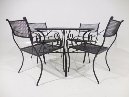 50'smodern IRON outdoor/indoor SALTERINI garden Dinette Set by Tempestini