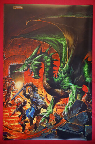 Dungeons and Dragons Deadly Encounter Green Dragon D&D Picture Poster 24X36 DDDE