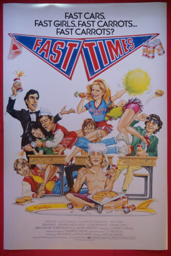 Fast Times At Ridgemont High Sean Penn Phoebe Cates Movie Picture Poster 24X36