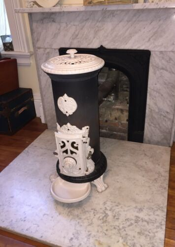 "GODIN vintage wood and coal burning stove ~ 30"" tall"
