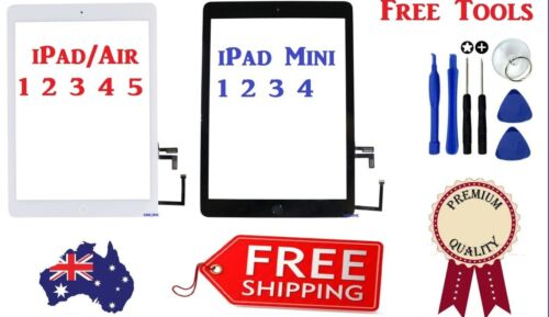 Digitizer Touch Screen Glass Replacement For Apple iPad Air / Mini 1 2 3 4 5 6