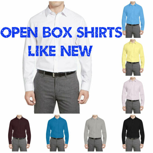 Warehouse Deals Open Box Repackaged Like New Berlioni Men's Dress Shirts