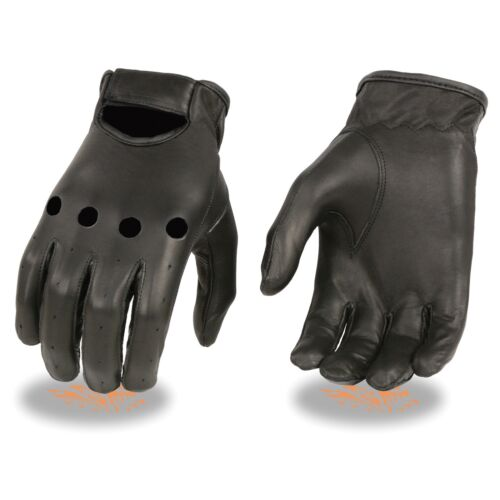 Milwaukee Leather Men's Unlined Leather Classic Style Driving Gloves **SH247