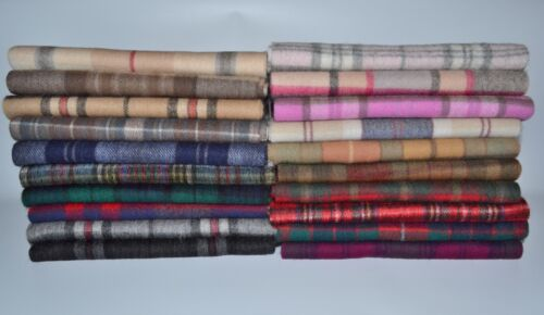 New Scottish 100% Lambswool of Scotland Scarf Tartan Check Wool Scarves Stoles