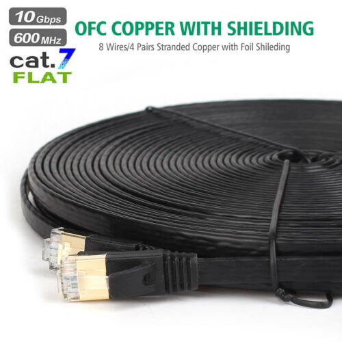 Ethernet Cable Cat 7 Shielded (STP) 10GB Fastest Lan Network Cable Rj45, 15m/30m