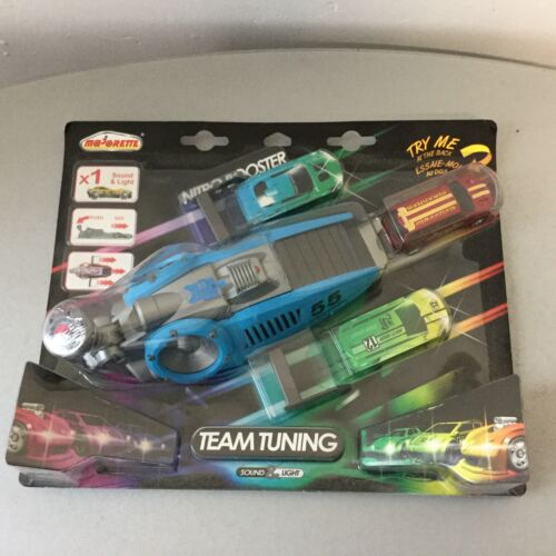CAR PLAYSET voiture majorette With  nitro booster team tuning Blue# Sealed