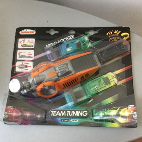 CAR PLAYSET voiture majorette With  nitro booster team tuning Orange # Sealed