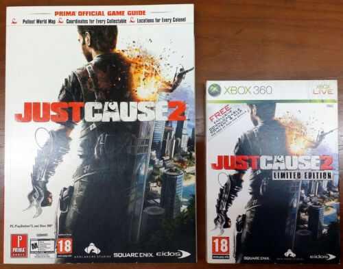 Xbox 360 Game - Just Cause 2 c/w Official Guide
