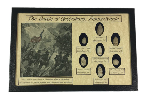 The Battle of Gettysburg, Pennsylvania 7 piece bullet relic collection with COABullets - 103996