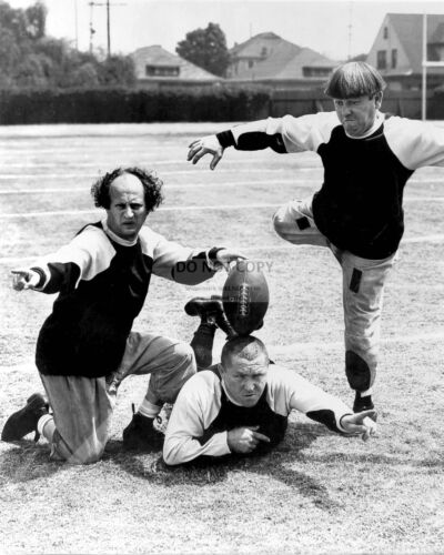 """THE THREE STOOGES IN THE SHORT FILM """"THREE LITTLE PIGSKINS"""" - 8X10 PHOTO (AZ336)"""