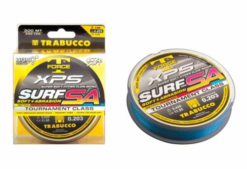 Monofilo Trabucco T-Force XPS Surf Sa Mark System 300m Pesca Spinning Bolo CSP