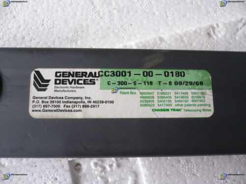 GENERAL DEVICES CC3001-00-180 Chassis Trak Telescoping Slides Rails