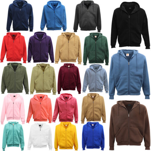 Adult Unisex Plain Fleece Hoodie Hooded Jacket Men's Zip Up Sweatshirt Jumper <br/> Same Day Shipping From MEL, AU*. Embroidery Available.