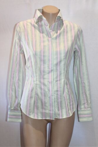 RAOUL Brand Multi Striped Slim Fit Button Front Shirt Top Size 6 BNWT #SL07