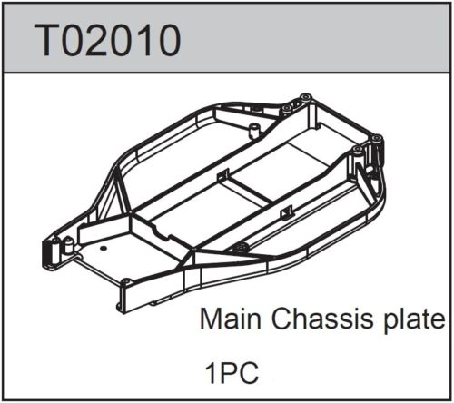 TEAM C T02010 Main Chassis Plate