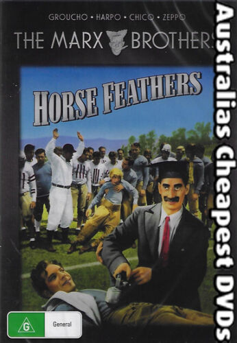 Horse Feathers DVD NEW, FREE POSTAGE WITHIN AUSTRALIA REGION ALL