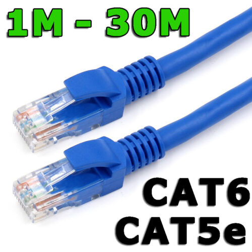 Ethernet LAN Cable CAT6 Fast Network Router Data Internet Extension Patch Lead