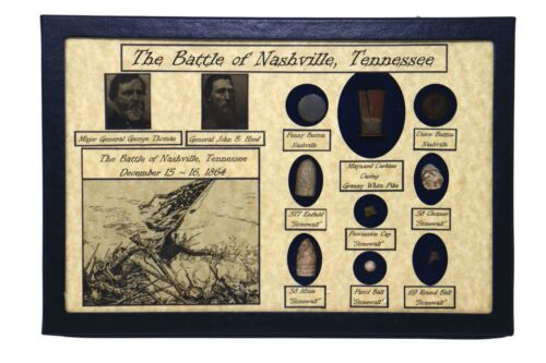 The Battle of Nashville, Tennessee - Maynard Casing, Bullets, Buttons, in CaseBullets - 103996