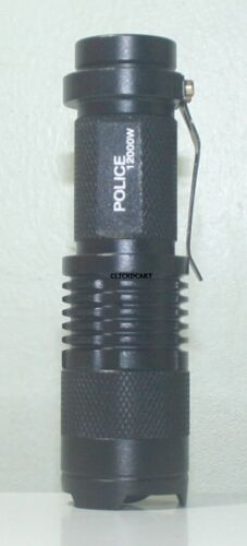 Pocket SWAT 12000 Style LED Flashlight Zoomable With Case Battery 18650 Charger