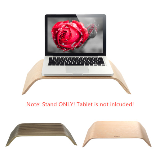 Universal PC Monitor Bamboo Stand Dock Wooden Holder Display Bracket for Laptop
