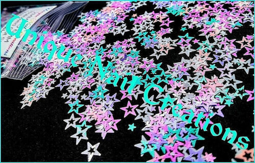 HOLLOW STAR~Glitter~Multi-Sizes~Solvent Resistant~Nail Art•Face•Festival•Crafts⭐