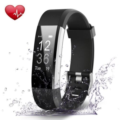 ID115 Plus HR Bluetooth Smart Sport Watch Wrist Band Fitness Tracker USB Charger