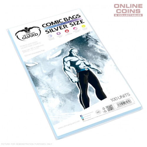 ULTIMATE GUARD Comic Series - SILVER SIZE Resealable Comic Bags x 100