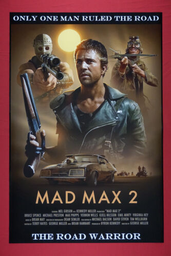 Mad Max 2 The Road Warrior Mel Gibson Collectible Car Art Movie Poster 24X36 New