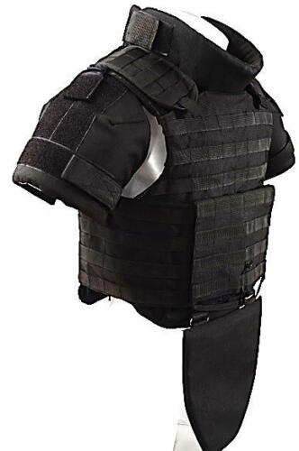 Black size M Full Body Armor Plate Carrier  MOLLE Vest 3A Kevlarr includedOther Current Field Gear - 36071