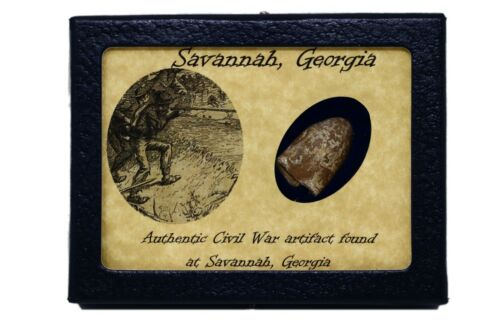 Civil War Bullet Relic from Savannah, Georgia with Display Case and COABullets - 103996